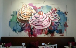 Wandbild Cafebereich