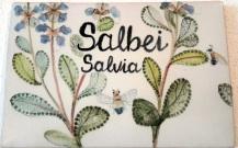 Türschild Zimmer Salbei