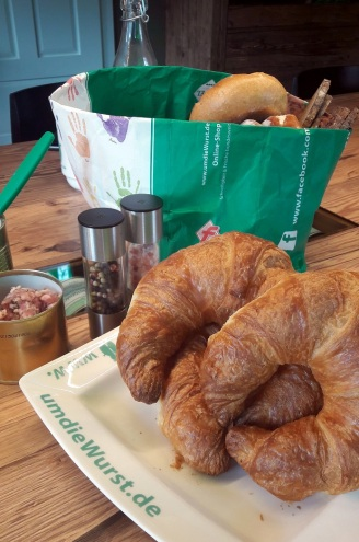 Croissants Frühstück