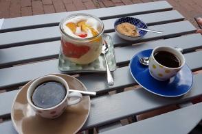 Dessert und Espresso